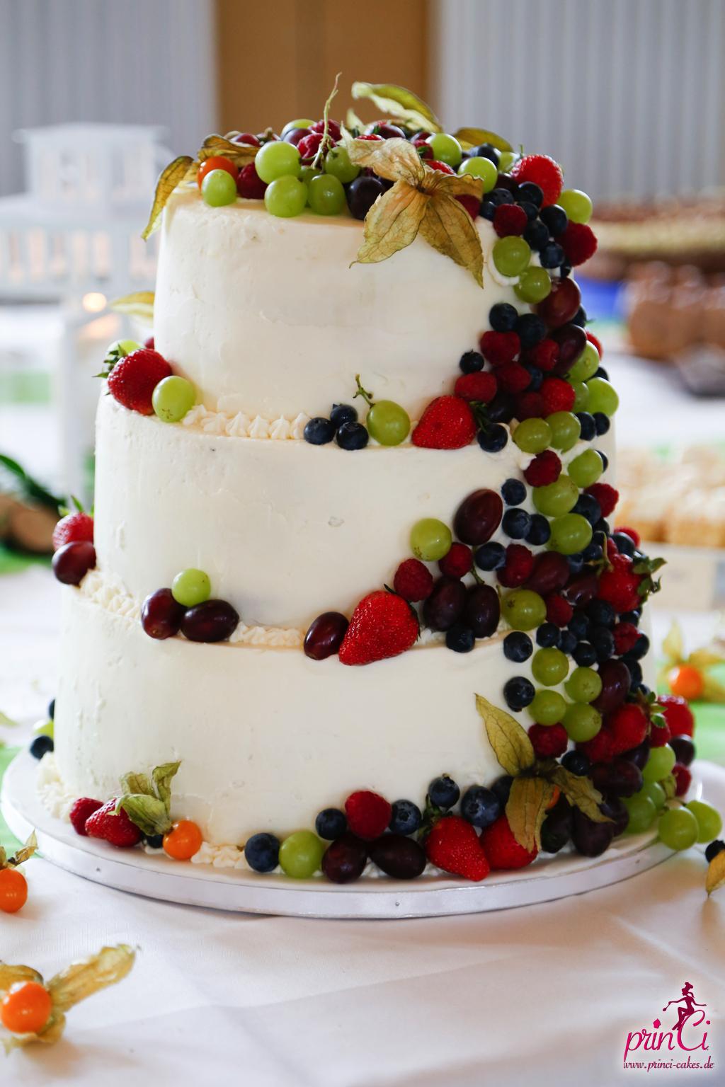 Hochzeitstorte Mit Fruchten Princi Cakes