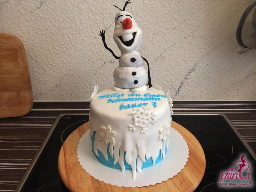 Die Eiskonigin Olaf Der Schneemann Princi Cakes