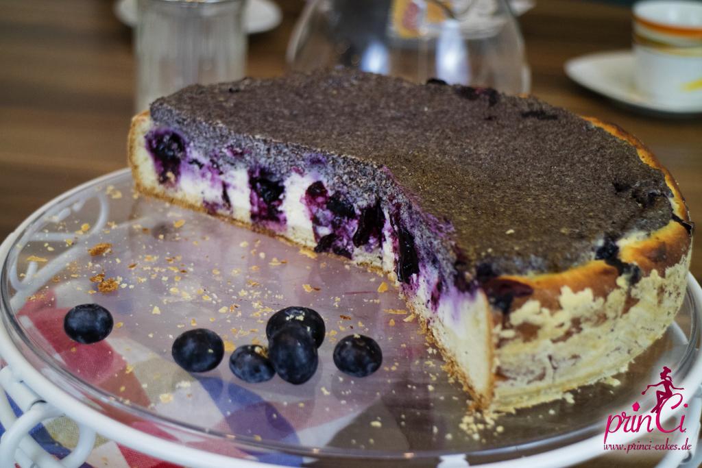 Mohn Quark Heidelbeer Torte Princi Cakes