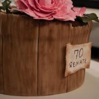 Geburtstagstorte Blumenkübel