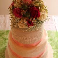 Vintage Hochzeitstorte  Blumen