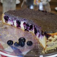 Mohn-Quark-Heidelbeer-Torte