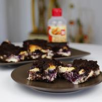 Zuckerfreie und glutenfreie Blueberry Cheesecake Brownies
