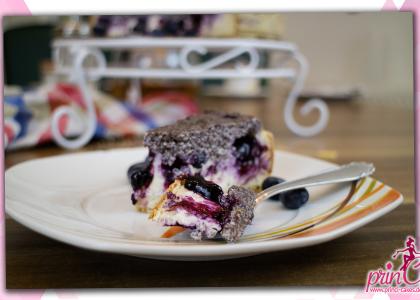 Mohn-Quark-Heidelbeer Torte
