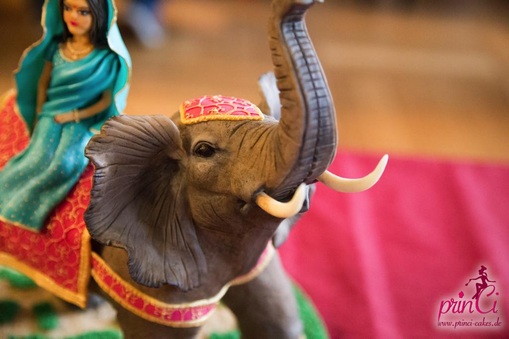 Elefant Modelliert Fondant Tortenshow 2014