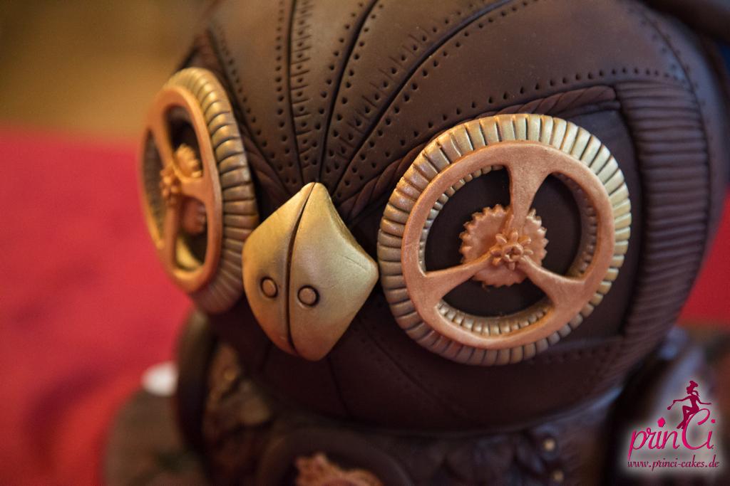 Steampunk Eule Tortenshow 2014
