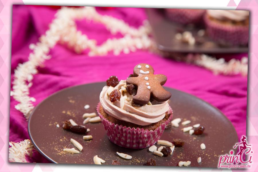 Bratapfel-Mandelmus Cupcakes mit Viba-Nougat-Lebkuchen Creme
