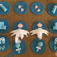Baby Cupcakes Zwillinge Twins Geburt Taufe Pullerparty Jungen