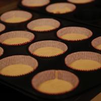 Rhabarber Muffins aus Rührteig