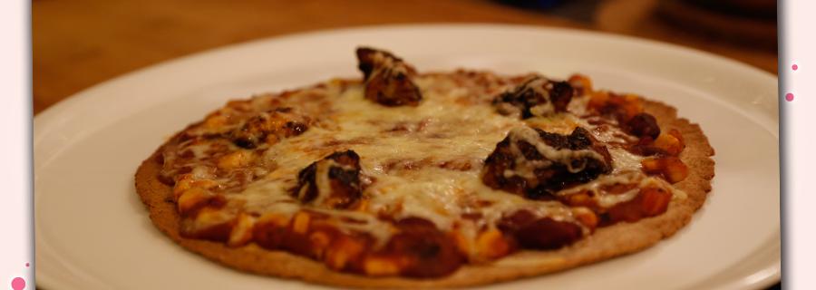 BBQ Chicken Wrap Pizza