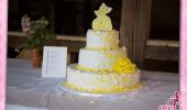 Hochzeitstorte in gelb