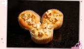 Birnen Popcorn Muffins